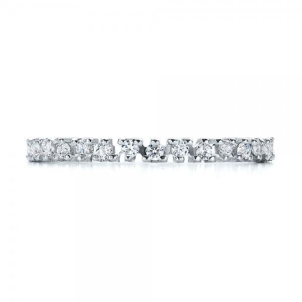 Women's Diamond Eternity Band - Top View
