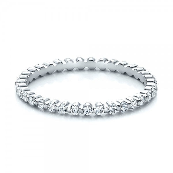 Women's Diamond Tension Set Eternity Band