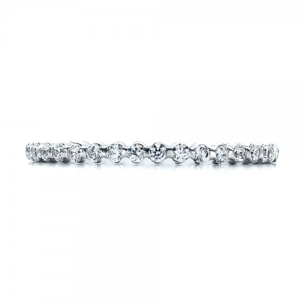 Women's Diamond Tension Set Eternity Band - Top View