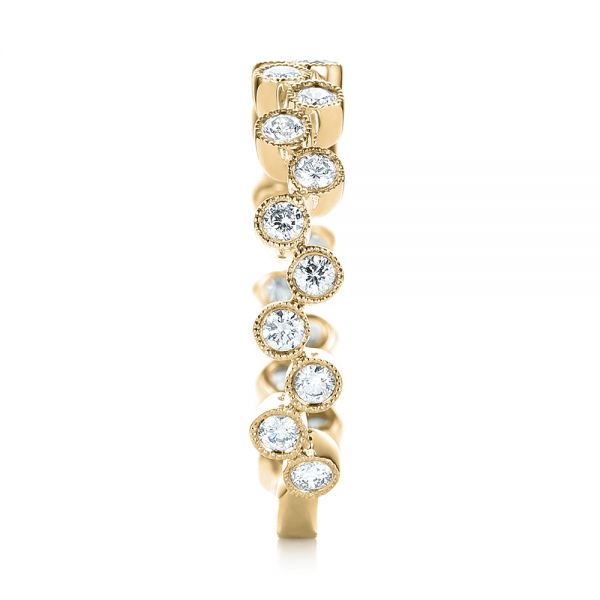 18k Yellow Gold 18k Yellow Gold Women's Diamond Wedding Band - Side View -
