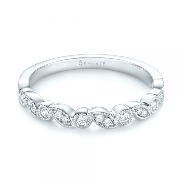 Women's Diamond Wedding Band - Laying View