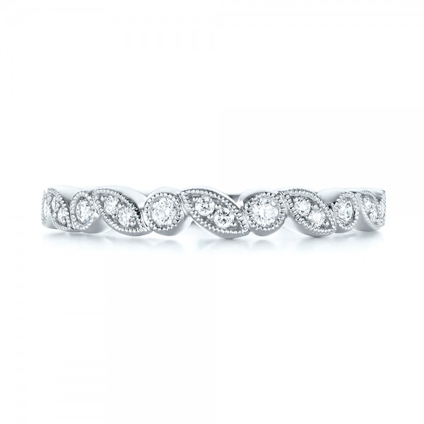 Women's Diamond Wedding Band - Top View