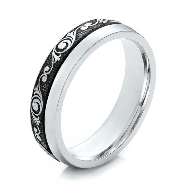 Women's Engraved Wedding Band -   -  101064