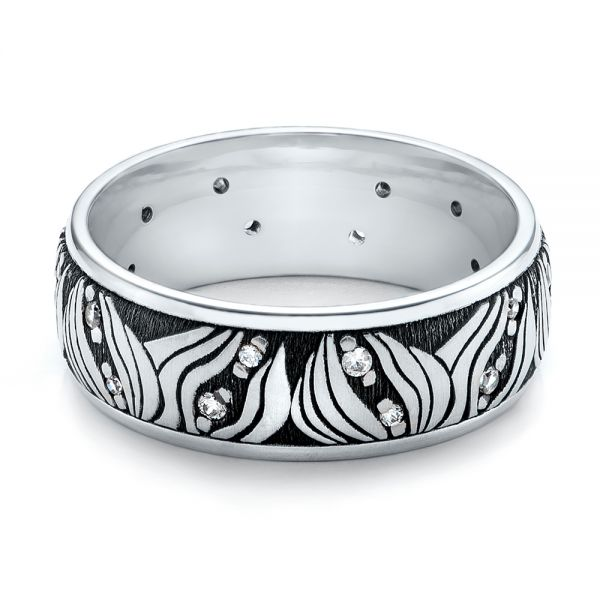 Women's Engraved Wedding Band -  101058