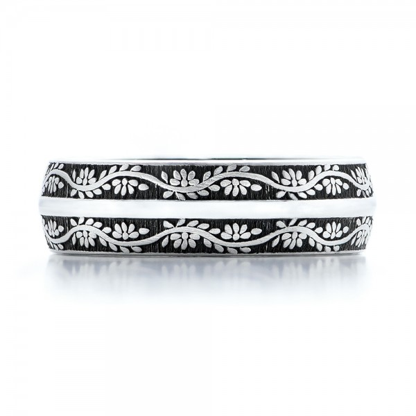 Women's Engraved Wedding Band - Top View