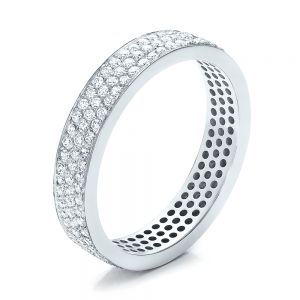 Women's Pave Diamond Eternity Band - Image