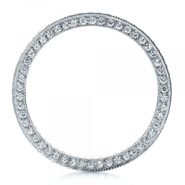 Women's Pave Diamond Eternity Band - Finger Through View