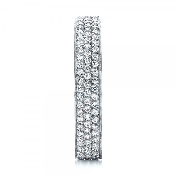 Women's Pave Diamond Eternity Band - Side View