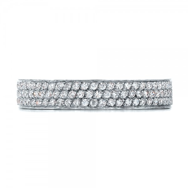 Women's Pave Diamond Eternity Band - Top View