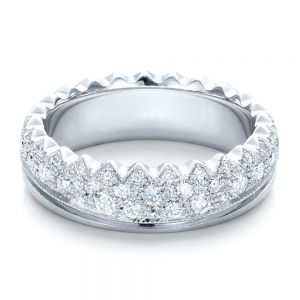 Women's Pave Diamond Wedding Band