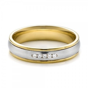Women's Two-Tone Gold and Diamond Wedding Band