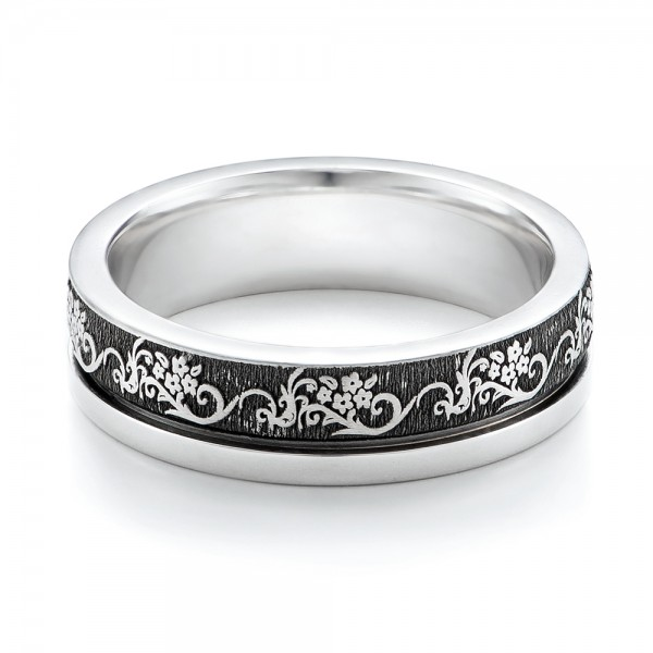 Women's Engraved Wedding Band