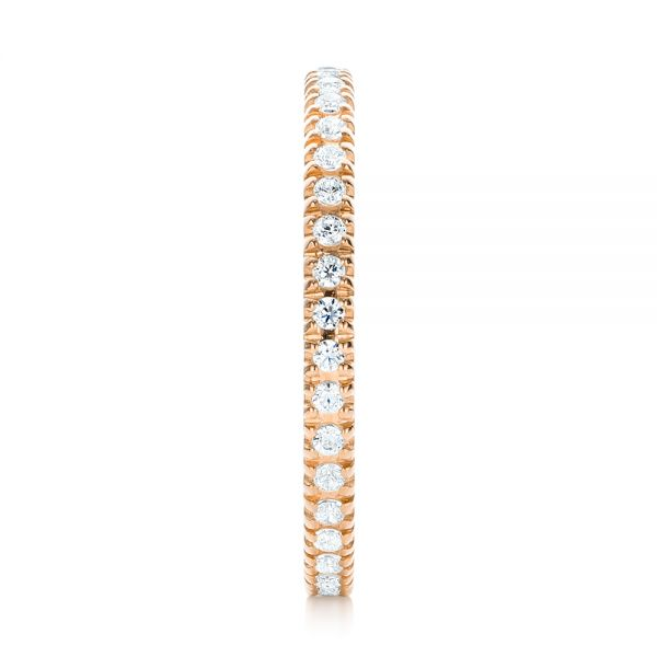 18k Rose Gold 18k Rose Gold Diamond Stackable Eternity Band - Side View -  101908