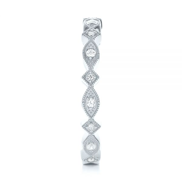 14k White Gold 14k White Gold Diamond Stackable Eternity Band - Side View -