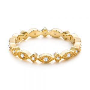 Yellow Gold Diamond Stackable Eternity Band