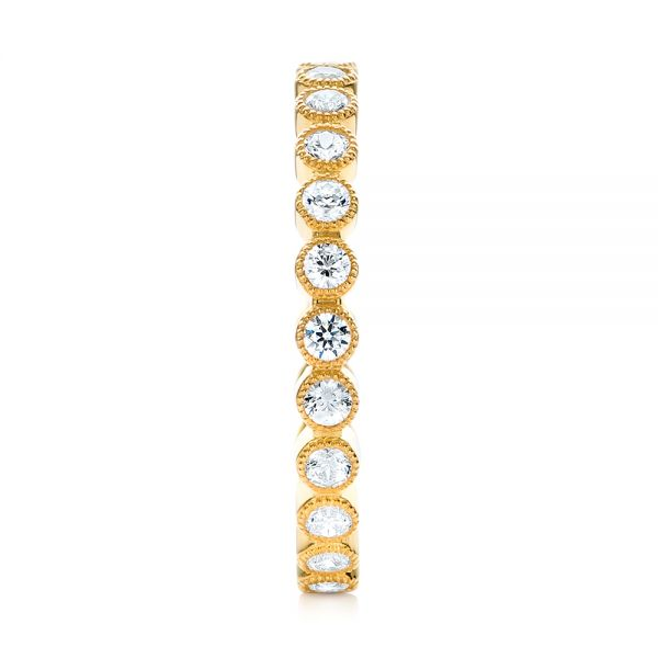Yellow Gold Stackable Diamond Eternity Band - Side View -  101906 - Thumbnail