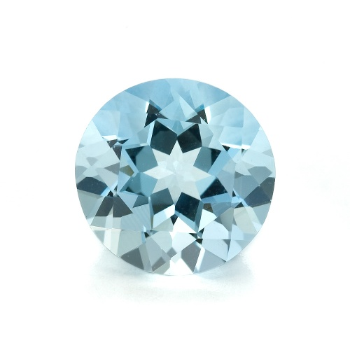 Blue Round Aquamarine