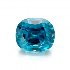 Blue Cushion Zircon