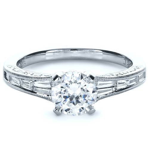 baguette diamond engagement ring bellevue seattle joseph