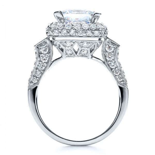 ... Engagement Rings › Baguette Side Stones Princess Cut Engagement Ring