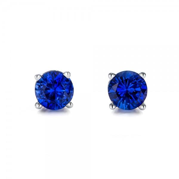 blue sapphire stud earrings 100956 bellevue seattle. Black Bedroom Furniture Sets. Home Design Ideas