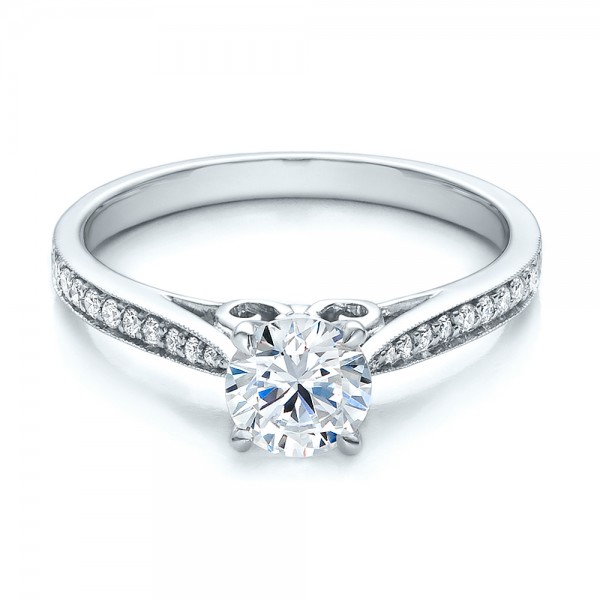 Bright Cut Diamond Engagement Ring Bellevue Seattle Joseph Jewelry