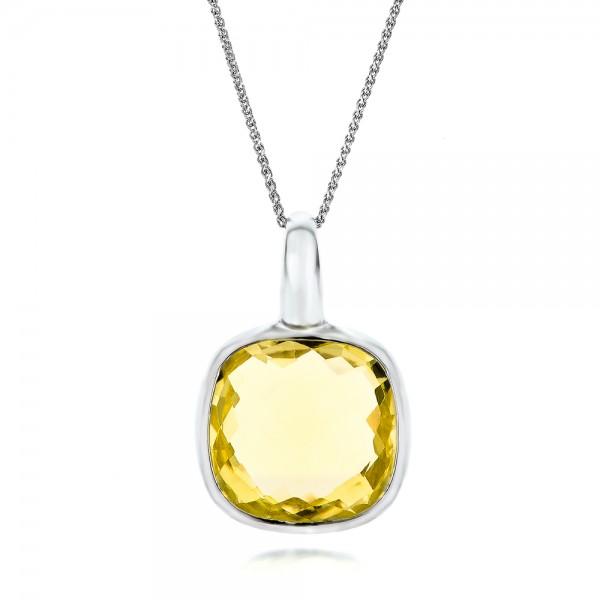 checkerboard lemon quartz pendant necklaces joseph jewelry
