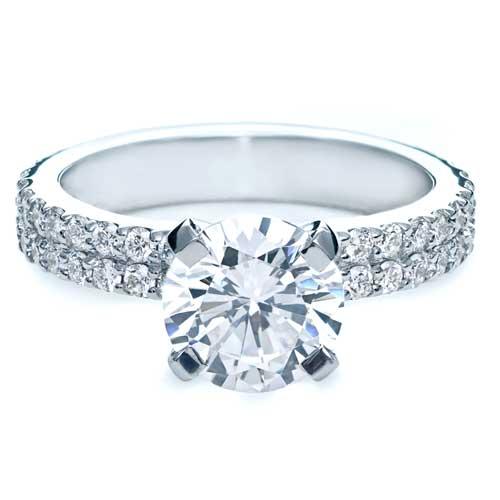 Contemporary Diamond Engagement Ring