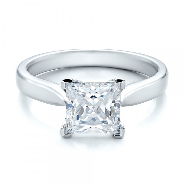 Contemporary Solitaire Princess Cut Diamond Engagement Ring Bellevue