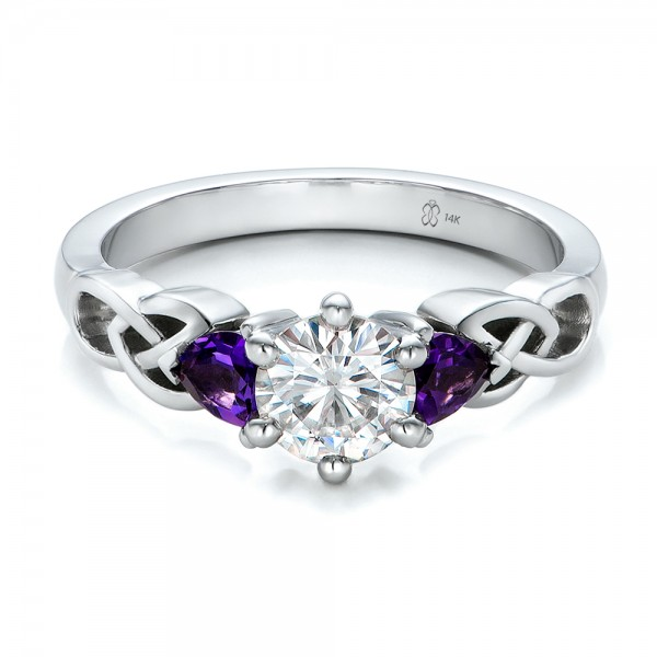 and amethyst wedding rings modest navokal