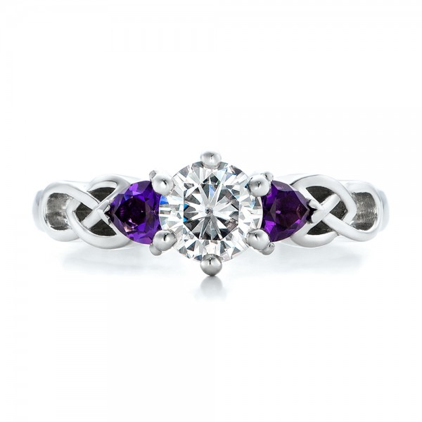 diamond and amethyst wedding rings pictures - Amethyst Wedding Rings