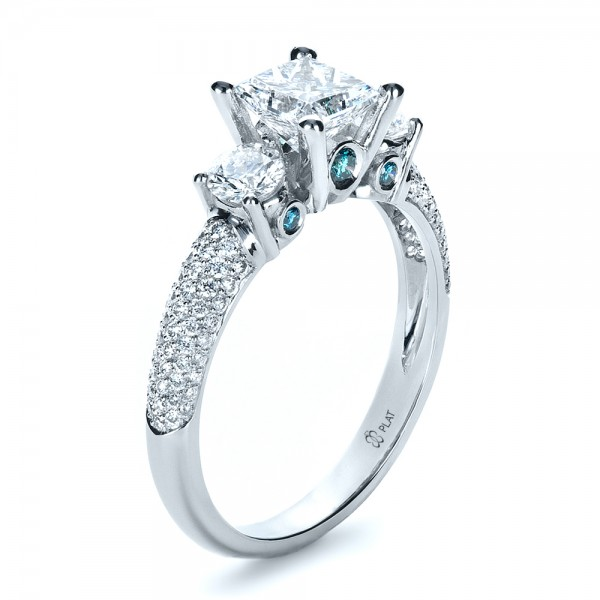 custom blue engagement ring 1420 bellevue seattle