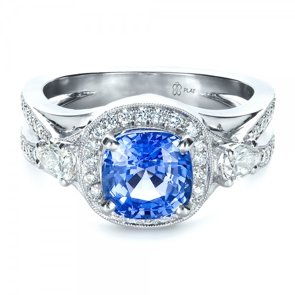 Custom Blue Sapphire Engagement Ring 1432 Bellevue Seattle Joseph Jewelry