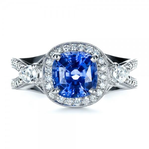 custom blue sapphire engagement ring 1432 bellevue