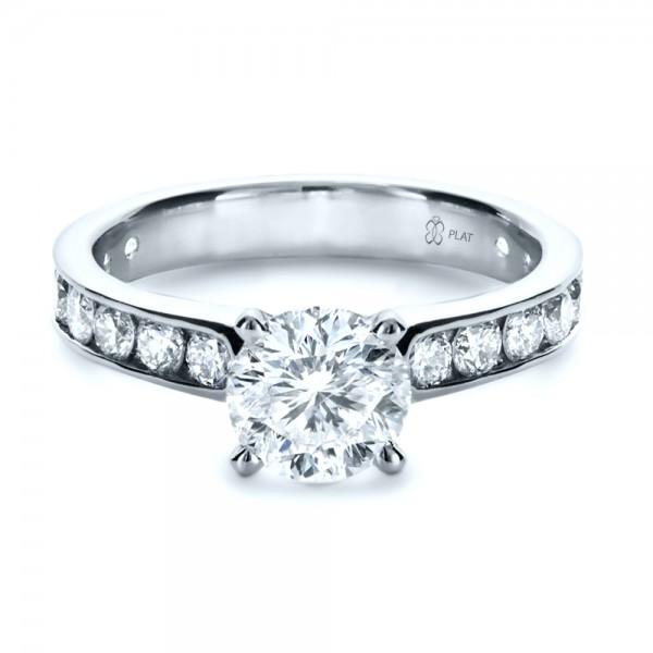 custom channel set engagement ring 1138 bellevue
