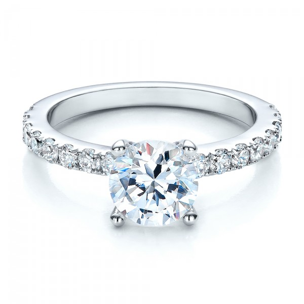 custom classic engagement ring bellevue seattle joseph