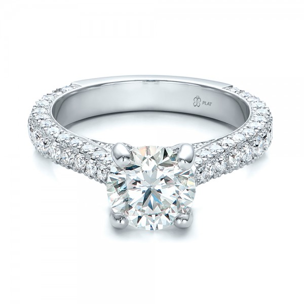 custom pave engagement ring 100853 bellevue