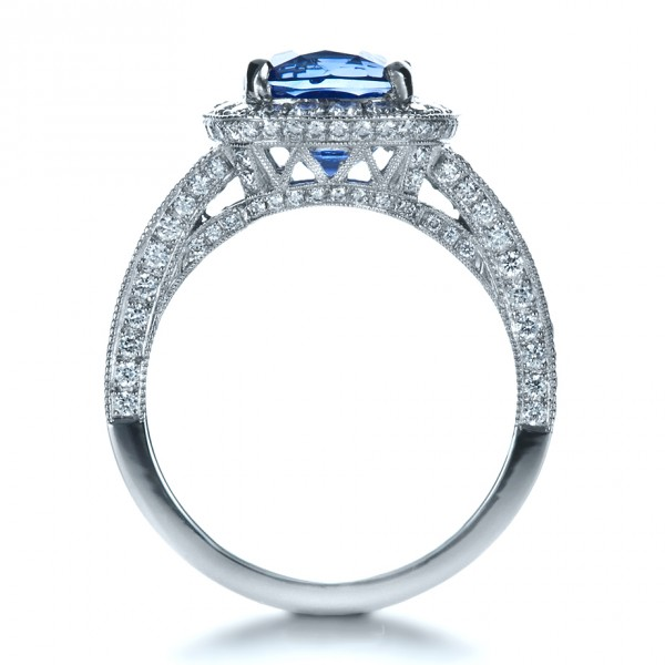 custom and blue sapphire engagement ring 1212
