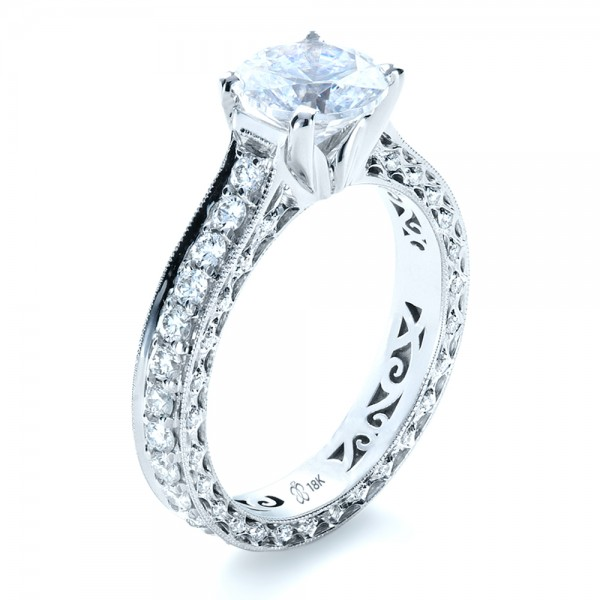 Custom Diamond And Filigree Engagement Ring Bellevue Seattle Joseph Jewelry