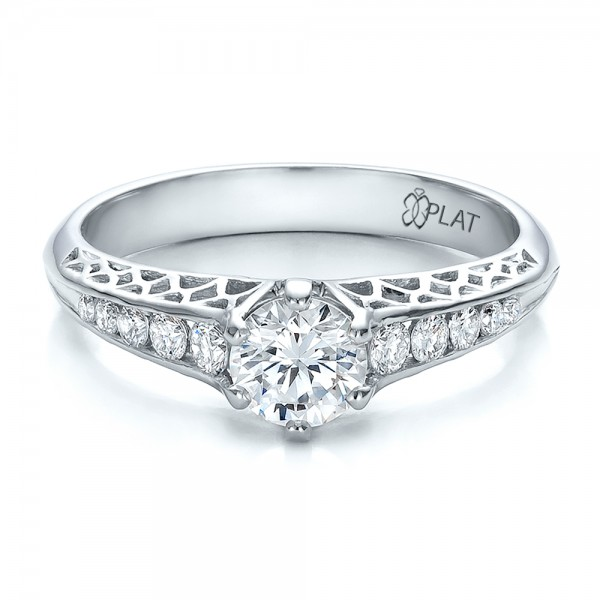 custom and filigree engagement ring 100566