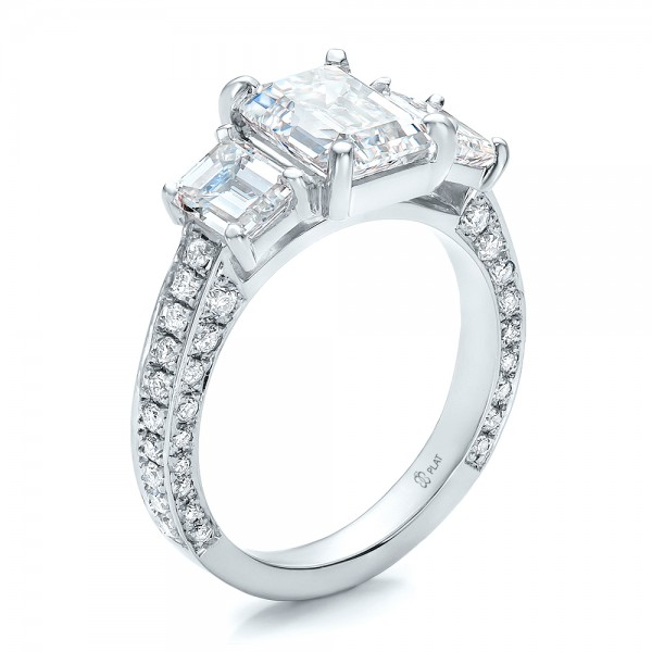 custom emerald cut engagement ring 100723