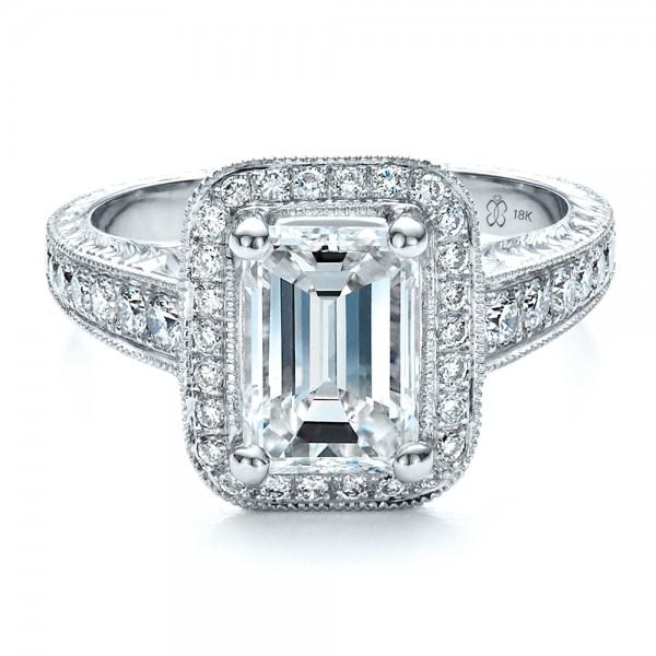 Custom Emerald Cut Diamond Engagement Ring 1478 Bellevue Seattle Joseph Jewelry