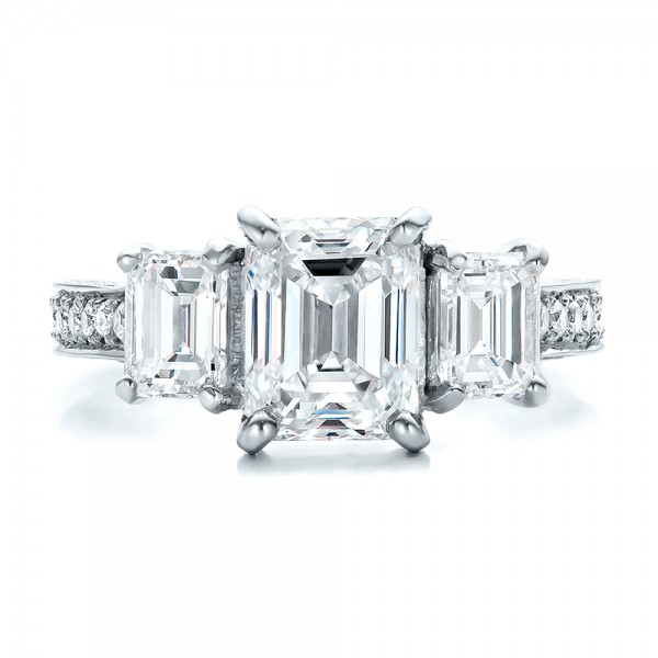 Custom Emerald Cut Diamond Engagement Ring Bellevue Seattle Joseph Je