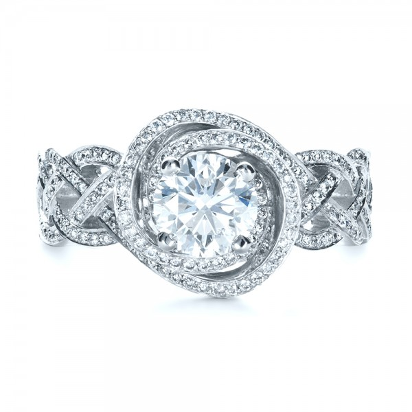 custom filigree shank engagement ring 1378 bellevue