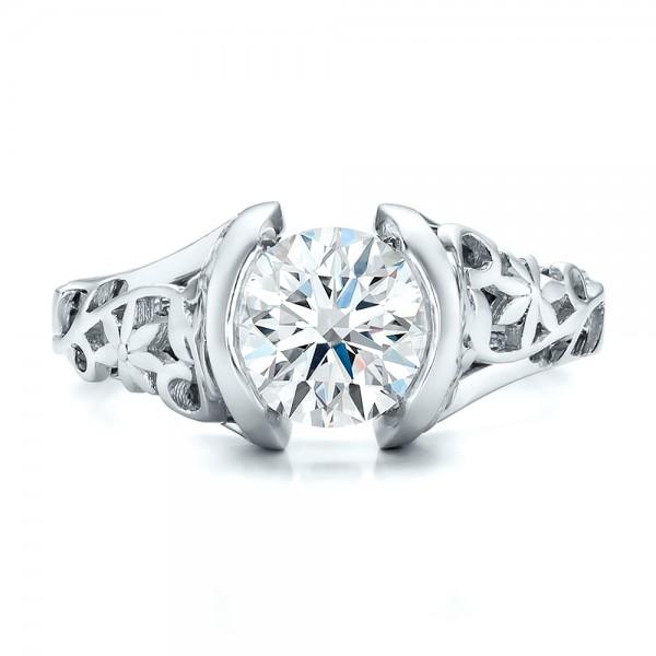 custom filigree and engagement ring 100706
