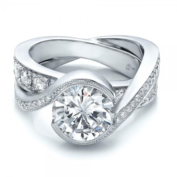 custom interlocking diamond engagement ring bellevue seattle joseph