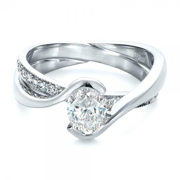 custom interlocking engagement ring 1437 bellevue seattle