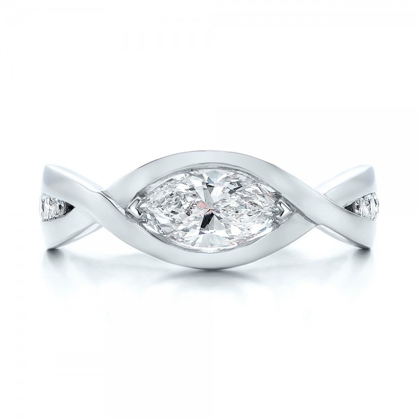 custom marquise engagement ring 100824 bellevue