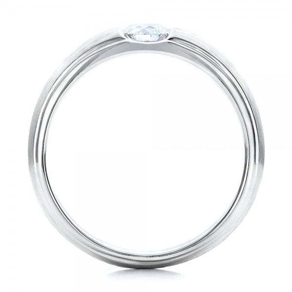 Custom Mens Tension Set Diamond Wedding Band 101220 Bellevue Seattle Joseph Jewelry