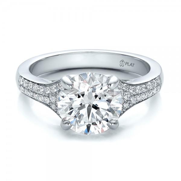 Custom Micro Pave Diamond Engagement Ring Bellevue Seattle Joseph Jew